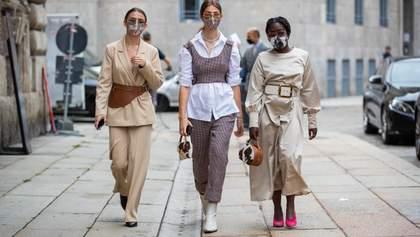 Фешн-карантин: які маски одягають гості Тижнів моди в Європі – фото