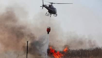 Авіація гасить пожежі на Луганщині: бойовики обіцяли не відкривати вогонь – відео