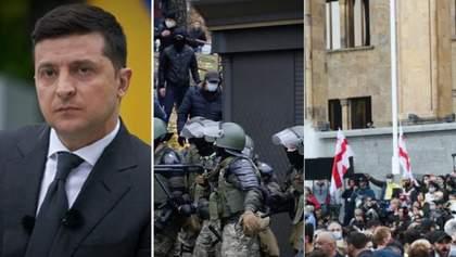 Головні новини 1 листопада: реакція Зеленського на скандал з КСУ, силовики стріляли у Білорусі