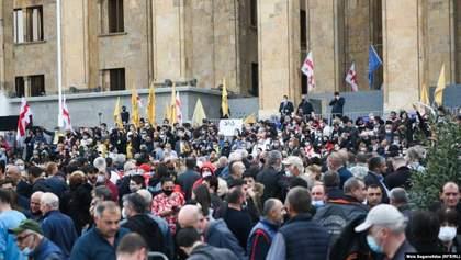 В Грузии начались протесты из-за результатов парламентских выборов: фото