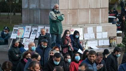 У Єревані люди зібралися на черговий протест щодо відставки Пашиняна: відео