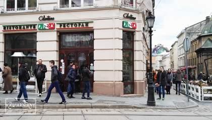 Львівський ресторан скасував штраф за порушення карантину вихідного дня