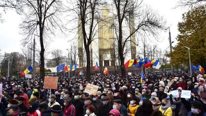 В защиту Санду: в Кишиневе протестовали против ограничений полномочий президента – фото