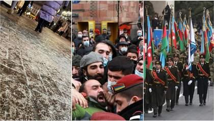 Главные новости 10 декабря: ледяной дождь в Киеве, протесты в Армении и парад в Азербайджане
