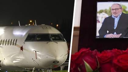 Борт с телом Кернеса прибыл в Харьков: видео