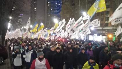 Протесты ФЛП в Киеве: митингующие пришли к друзьям Зеленского