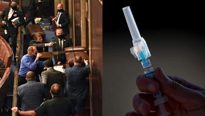 """Главные новости 6 января: беспорядки в Вашингтоне, """"тайная вакцинация"""" в Украине"""