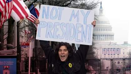 После инаугурации Байдена в США вспыхнули протесты: фото, видео