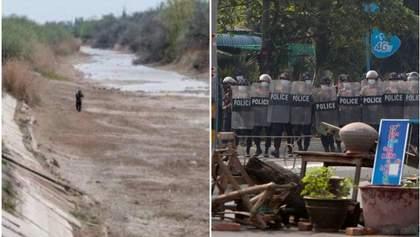 Главные новости 28 февраля: пересохшие водохранилища в Крыму и кровавые протесты в Мьянме