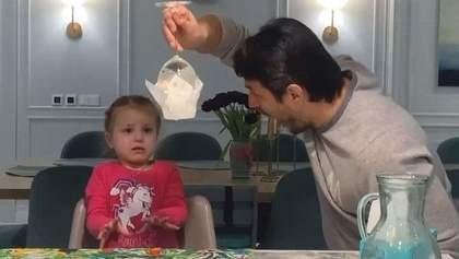 Сергій Притула показав фокус доньці: реакція дівчинки розірвала мережу