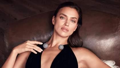 Ирина Шейк снялась в рекламе в безупречном платье, от которого невозможно отвести взгляд: фото