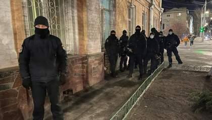 На протестах за Стерненко задержали человека