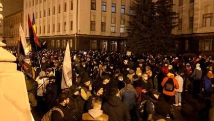 У Зеленского прокомментировали протест в поддержку Стерненко