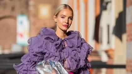 Лавандовый – самый модный цвет осени, который стилисты советуют носить уже сейчас