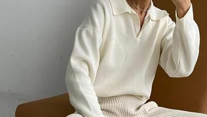 Джемпер с воротником поло – трендовая вещь весны: с чем его носить