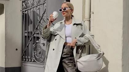 Кроссовки, кожаные брюки и молочный тренч: Леони Ханне напоминает, что надо купить этой весной