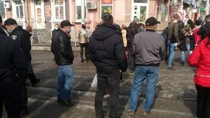 Опиралися поліції: у Запоріжжі мітинг проти карантину закінчився кримінальною справою