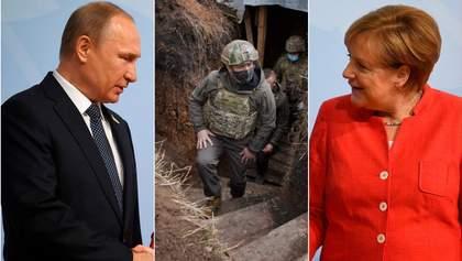 Головні новини 8 квітня: Зеленський на передовій, перемовини Меркель та Путіна, погрози Кремля