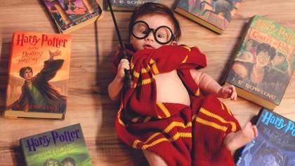 Фотосесія у стилі Гаррі Поттера для 3-місячного малюка: вражаючі кадри від молодої мами