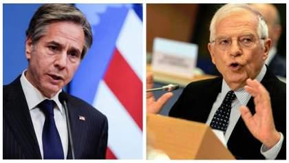 Глибоко стурбовані: Блінкен та Боррель обговорили події в Україні