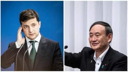 Зеленський поговорив про Донбас з прем'єром Японії та запросив його в Україну