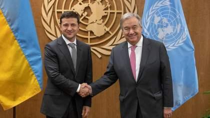 Зеленський поговорив з Генсеком ООН про вакцинацію та ситуацію на кордоні