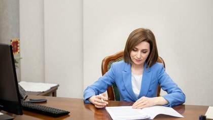 Майя Санду розпустила парламент Молдови і підписала указ про вибори