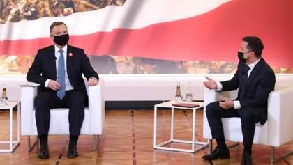 Зеленський зустрівся у Польщі з Дудою: основні тези з розмови президентів
