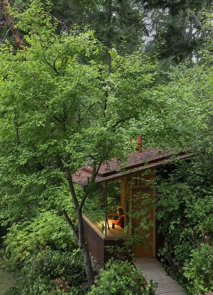 У тіні дерев та тиші природи працювати неймовірно  / Фото Dwell