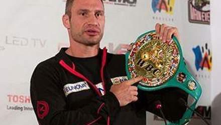 Виталий Кличко: Мой пояс принадлежал великим чемпионам, я его не отдам