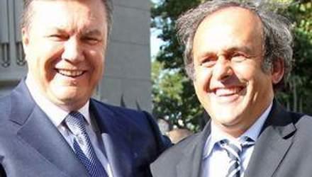 Янукович и Платини открыли новый терминал аэропорта