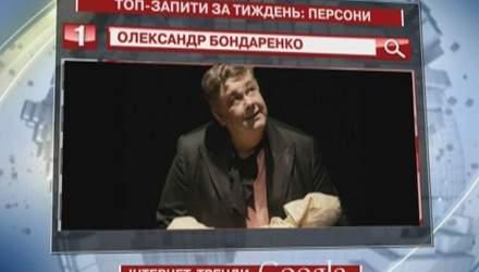 Актор Олександр Бондаренко - найважливіша персона у Google минулого тижня