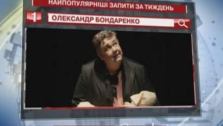 Смерть актора Олександра Бондаренка - найпопулярніший запит у Google