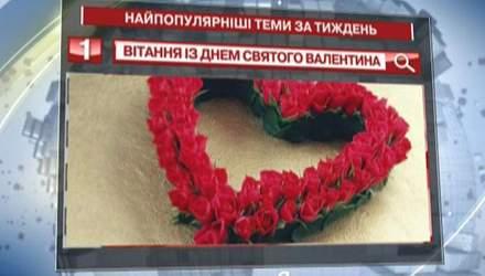"""Користувачі """"Яндексу"""" часто шукали привітання із Днем святого Валентина"""