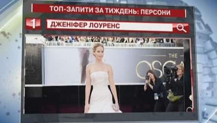 Дженіфер Лоуренс - персона №1 в українському Google