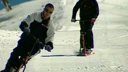 Байкборд - нечто среднее между лыжами и сноубордом