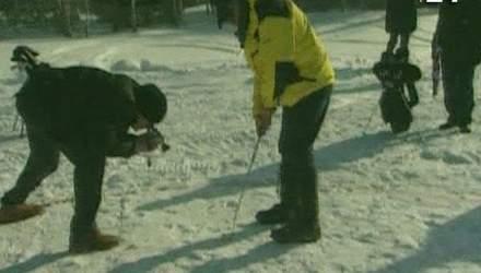 Экстремальный гольф на снегу