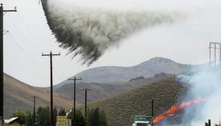 Лесной пожар в США: огонь почти добрался до особняков известных актеров