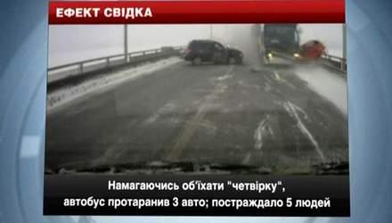 ДТП в Росії: рейсовий автобус виїхав на зустрічну і протаранив кілька авто
