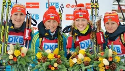 Женская биатлонная сборная завоевала золото в Сочи