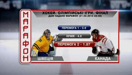Матч дня. Фінальний хокейний матч у Сочі — Швеція–Канада