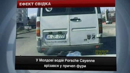 У Молдові Porsche влетів у фуру, у Львові п'яний таксист не розминувся з авто