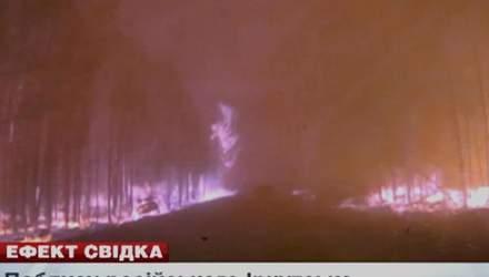Поблизу російського Іркутська горить 37 тисяч гектарів лісу