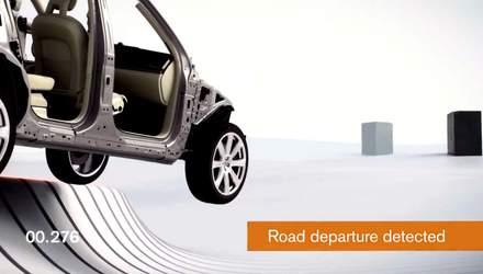Представлено перше у світі авто з системою Run-off road protection