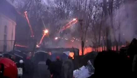 Євромайдан. Хроніка 20 січня: бої на Грушевського тривають, на озброєнні активістів — катапульта