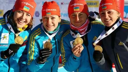 Биатлон. Женская сборная Украины завоевала золотые награды чемпионата Европы