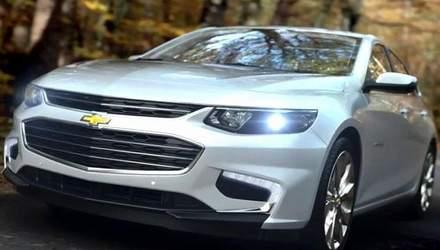 Автотехнології. Компанія Сhevrolet представила седан Malibu нового покоління