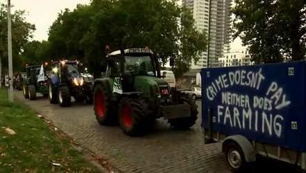Столицю Бельгії заполонили трактори