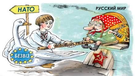 Не заздріть: українці доладно відповіли Росії на жарти про безвіз