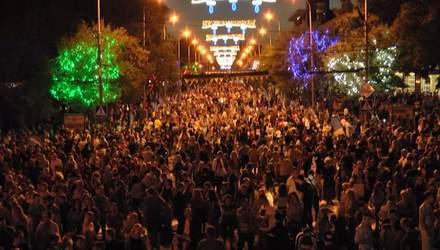 Понад 25 тисяч людей зібрало святкування Дня Незалежності у центрі Маріуполя